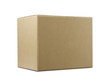 canvas print picture - Stack of closed cardboard boxes isolated on white background