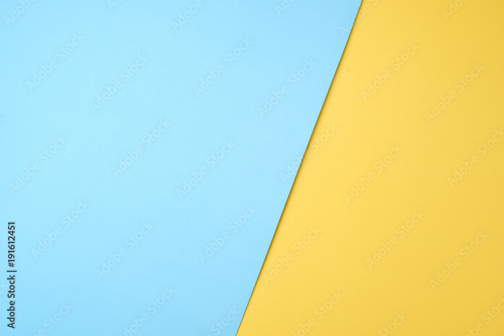 Fototapety, obrazy: blue and yellow pastel paper color for background