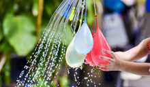 Colorful Of Water Balloons For...