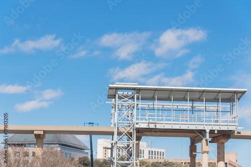 Light rail system station under construction in Las Colinas