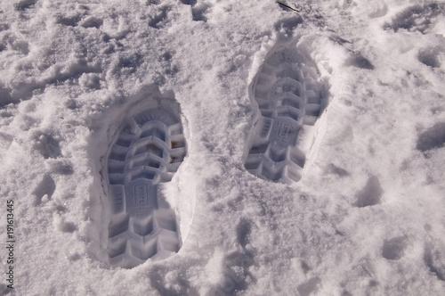 Fotografija  Empreinte de pas freiche dans la neige