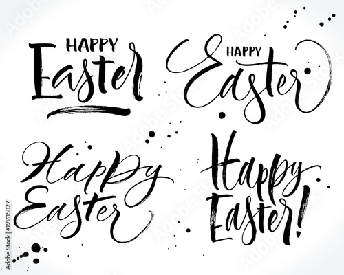 Four different style Happy Easter lettering Canvas-taulu
