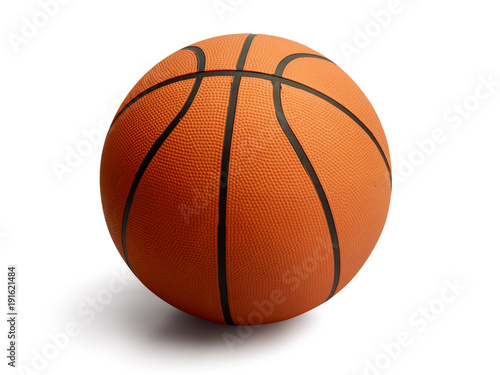 Basketball on isolated white background