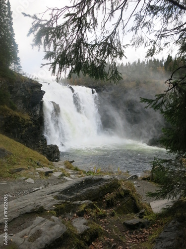 Printed kitchen splashbacks River Tannforsen waterfall