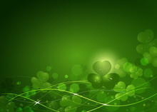 Background From The Leaves Of The Clover To St. Patrick's Day
