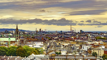 Dublin, Republic Of Ireland Aerial View Of Dublin Cityscape From Guinness Storehouse