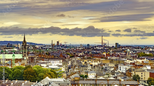 Photo  Dublin, Republic of Ireland Aerial view of Dublin cityscape from Guinness Storeh