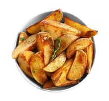 Bowl With Tasty Potato Wedges ...