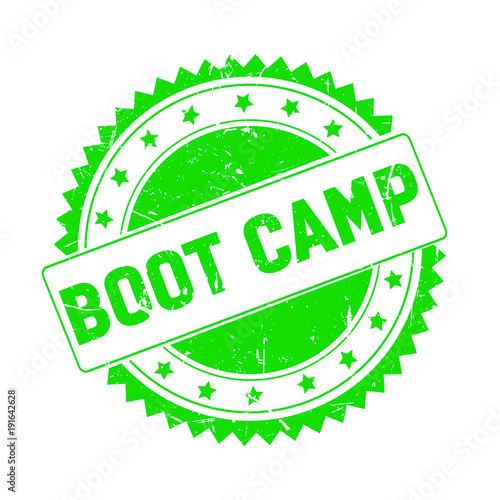 Fotografie, Obraz  Boot Camp green grunge stamp isolated