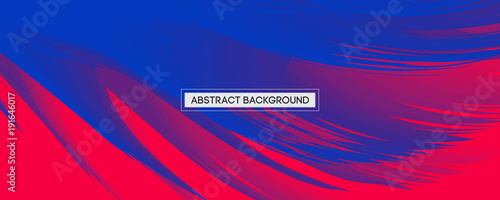 Photo  Abstract Design Blue Feather on Red Background | Wide Angle Vector Illustration