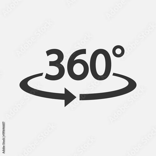 Fotografia  360 Icon. Vector illustration.