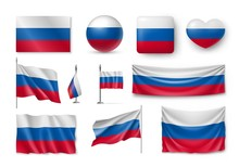 Set Russia Flags, Banners, Ban...