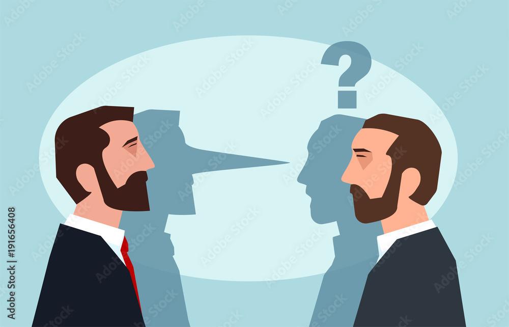 Fototapeta Business man lying to a partner