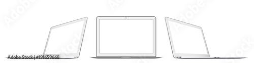 Fototapeta Laptop in a flat vector style obraz na płótnie