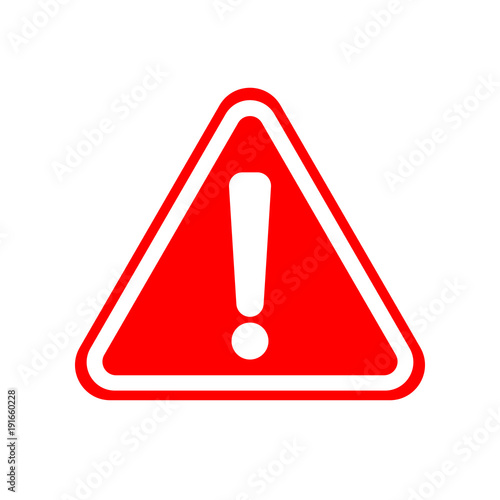 Leinwand Poster WARNING ICON