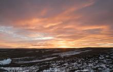 Nidderdale Sunset / Sunset Over High Crag In Nidderdale, North Yorkshire,England. December 2017