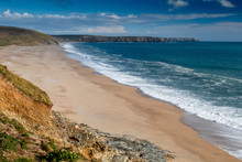 Loe Bar Beach Near Porthleven In Cornwall