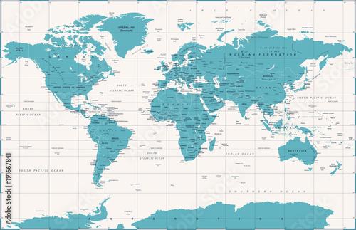 wektor-polityczna-mapa-swiata-w-stylu-vintage