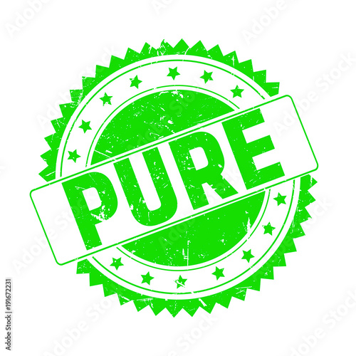 Fotografía  Pure green grunge stamp isolated
