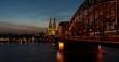 Köln / Cologne - Hohenzollernbrücke / Cathedral - Bridge