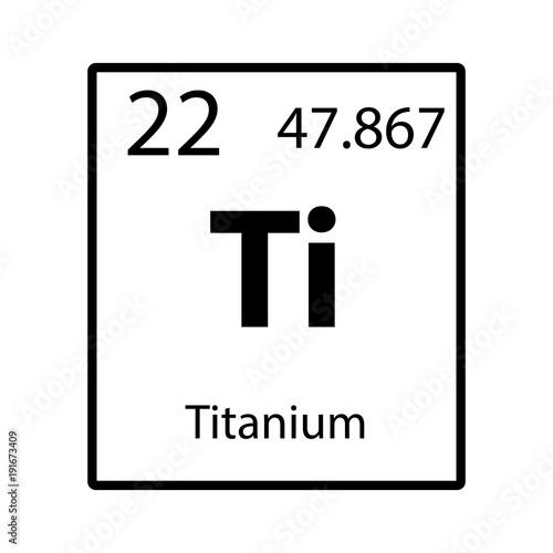 Titanium periodic table element icon on white background vector titanium periodic table element icon on white background vector urtaz Gallery