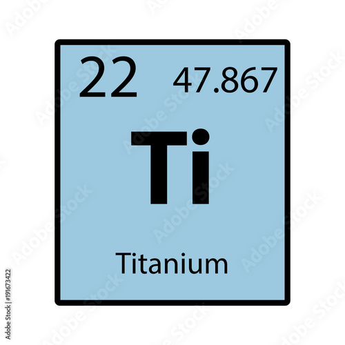 Superior Titanium Periodic Table Element Color Icon On White Background Vector