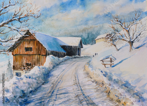 Watercolors oryginal painti...