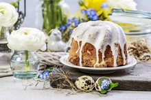 Traditional Easter Cake And Se...