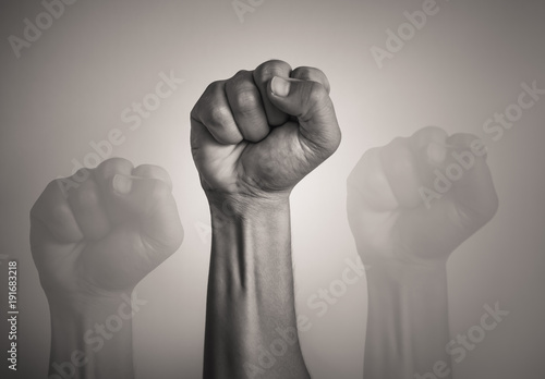 People power! Isolated fist in the air. Fototapet