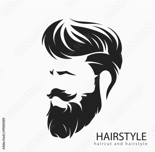 Fotografia, Obraz mens hairstyle with a beard and mustache