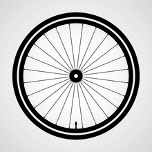 Bicycle Wheel. Icon