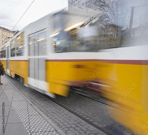 Moving Budapest tram