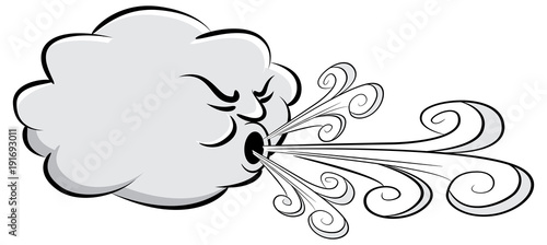 Fotografia, Obraz Windy Day Cloud Blowing Wind