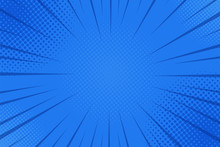 Comics Rays Background With Ha...