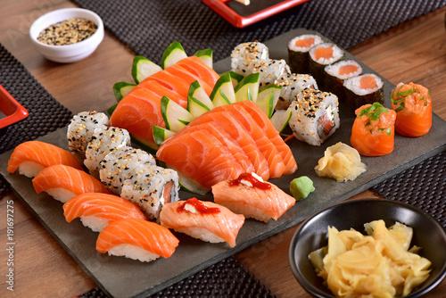 Fototapeta Japońska mieszanka żywności