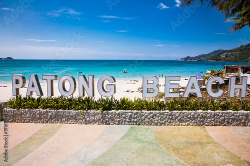 Poster Oceanië Patong beach in Phuket, Thailand.