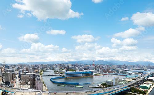 Fototapete - 福岡市 街並み