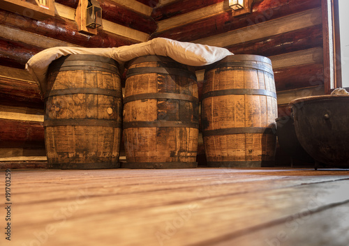 Vintage Wine Barrels Buy This Stock Photo And Explore Similar