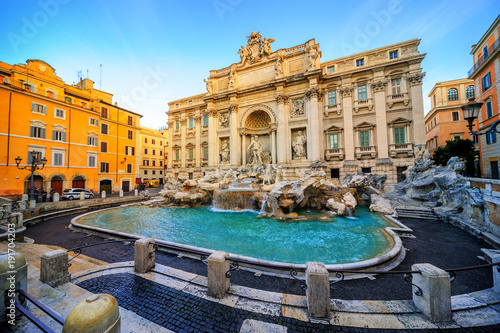 Poster de jardin Europe Centrale The Trevi Fountain, Rome, Italy