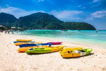 Colorful Kayaks At Ao Loh Dalu...