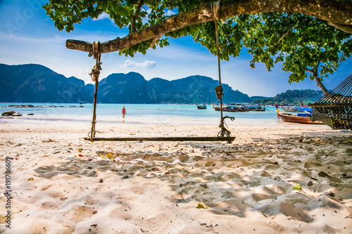 Viking I Beach on Phi Phi Islands.Thailand. Wallpaper Mural