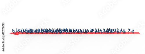 Obraz na plátně 矢印と群衆