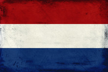 Vintage National Flag Of Netherlands Background