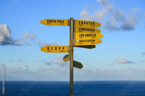Valokuvatapetti Sign post at Cape Reinga