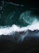 canvas print picture - dark wave arial shot