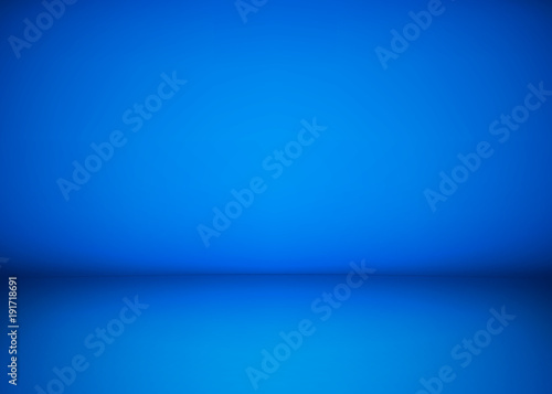 Photo  Abstract blue studio workshop background