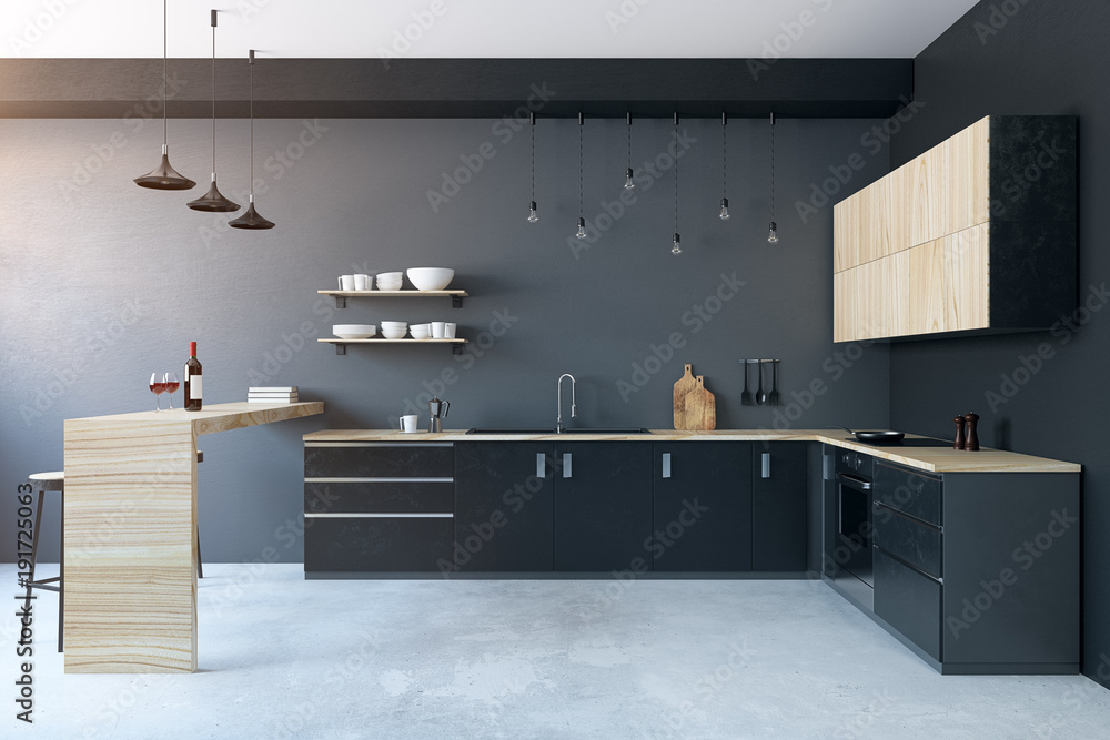 Fototapety, obrazy: Modern kitchen interior