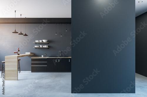 Obraz Modern kitchen with copy space - fototapety do salonu