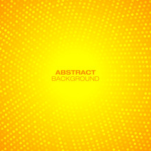 Abstract Circular Orange Background. Vector Illustration