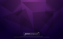 Purple Polygonal Abstract Background. Geometric Illustration With Gradient. Background Texture Design For Poster, Banner, Card And Template. Vector Illustration